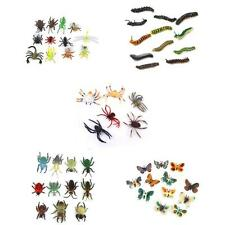 54x Plastic Insect Caterpillar, Spider, Beetle, Butterfly Model Figure Kids Toys