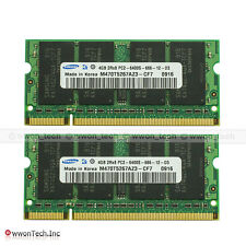 New SAMSUNG 8GB 2x4GB DDR2 PC2-6400 DDR2-800 800MHz 200pin Sodimm Laptop Memory