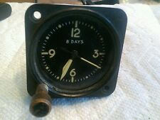 WW2 era Waltham 8 days aircraft clock, AN5743 TLIA, Nine Jewels, Not Working