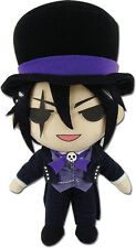 Black Butler 8'' Sebastian Top Hat Plush Doll Anime Manga MINT