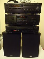 YAMAHA Natural Sound KX-w392 cassette,RX-485 RECEIVER,NS-A636 SPEAKERS WORKING!!