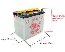 Batterie 12N24-3 A pour tracteur tondeuse autoportée livrée sans acide