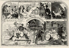 Orig Winslow Homer Thanksgiving Day, The Two Great Classes of Society 1860 Print