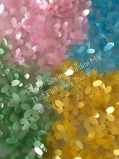 Sequins Flower Spring Garden Pastel Mix 10mm Pearl Pink Yellow Green Blue