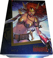 Women of Marvel Series Two Sapphire Parallel Chase Card Set