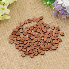 100Pcs Sweet Love Heart Wood Sewing Appointment Wedding Decoration Buttons
