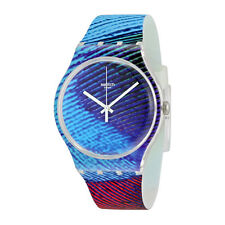 Swatch Peacobello Multicolored Silicone Mens Watch SUOK113