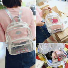 Girl's Mini Clear Transparent Backpack Satchel Tote With Laser Shoulder Straps#K