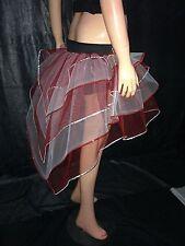 neon uv Red White Bustle Burlesque Sequin tutu Skirt fancy costume dance party