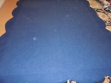 Nice Blue Whole Cloth w/Fancy Stitching Quilt