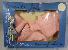 VINTAGE 1960s BOXED AMANDA JANE JINX KNITTED TWINSET (643) MINIFASHION CLOTHES