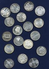 SWITZERLAND  1967  SHOOTING MEDALS + MISC. SILVER MEDALS, LOT OF (18)