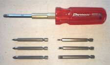 Picquic SixPac Plus Multi-bit Screwdriver: 4 Pozi-drive and 3 Slotted Bits