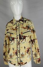 VTG AMY HOBAN CALIFORNIA WEAR WESTERN SHIRT SMALL Beige PEARL SNAPS Amazing S