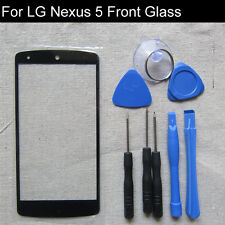 Black LCD screen front glass lens cover outer touch glass replacement for Nexus5