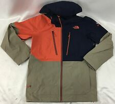 The North Face Men Free Thinker Jacket Steep Series Orange Navy Blue Beige L