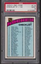 1976 O-PEE-CHEE #116 NHL HOCKEY CHECKLIST #1 thru 132 PSA 9 MINT OPC