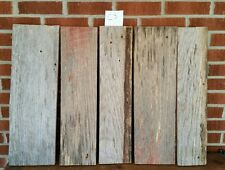 "5 pc RECLAIMED WEATHERED OAK  BARN LUMBER WOOD  CRAFTING 1 "" THICK FREE SHIP"