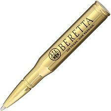 "Beretta BE73295 Bullet Pen Gold w/Black Ink 3.5"" Overall"
