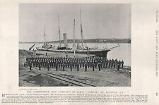 1896 MILITARY PRINT : THE COMMANDER AND COMPANY OF HMS 'TARTAR' AT HALIFAX N.S.