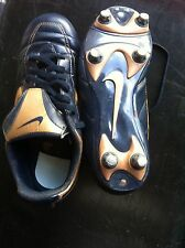 Boy's Nike Football Boots Blue + Gold Swoosh Size 4