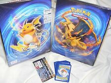 ULTRA PRO POKEMON FOLDER / PORTFOLIO CHARIZARD & RAICHU 1 BOOSTER 5 RANDOM CARDS
