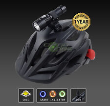 Opticfire CREE LED USB Smart cycle helmet mount bike lights head light torch