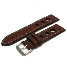 Grand Prix Racing Leather Watch Strap Band 24mm 22mm 20mm (Contrast Stitching)