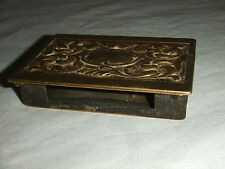 Superb Brass Match Box Holder Vester Antique N157