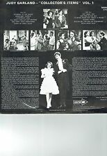 JUDY GARLAND LP ALBUM COLLECTOR'S ITEMS VOL 1