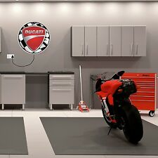 LIGHT BOX WITH DUCATI LOGO BIRTHDAY GIFT MANCAVE GARAGE MOTORCYCLE 999 998 996