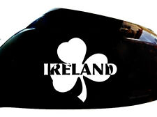 Ireland Irish Shamrock Car Sticker Wing Mirror Styling Decals (Set of 2), White