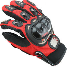 Knuckle Protection Leather Motorcycle Motorbike Full Finger Gloves Touch Screen