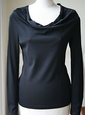 TOM FORD BLACK STRETCH CREPE TOP IT 42 UK 10