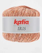 IRIS KATIA Lino Leinen mit Goldschimmer Lurex Wolle LACE Lux Glanz Glitzer F53
