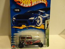 2003 Hot Wheels #79 Silver Midnight Otto w/Black 5 Spoke Wheels