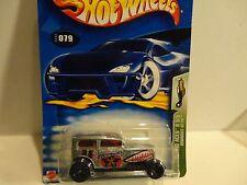 2003 Hot Wheels #79 Silver Midnight Otto w/Black 5 Spoke Wheels