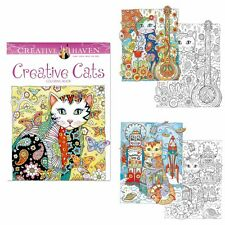 Secret Garden Creative  Cats An Inky Treasure Hunt Coloring Painting Books