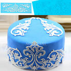 Flower Lace Embossed Silicone Fondant Mould Cake Decorating Sugar Icing Mold Mat
