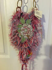 Perla Lichi Handbag, Chenille Hyper Lux One Of A Kind Handmade, Le Jardin Purse
