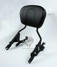 Black 4 Point Docking Hardware Sissy Bar Passenger Backrest for Harley 2014 2015