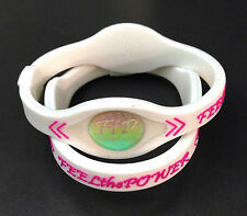 (2pcs) Power Energy Band Bracelet Wristband (SMALL WHITE) FAST SHIP
