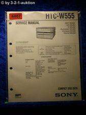 Sony Service Manual HTC W555 CD Deck (#4467)