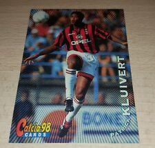 CARD CALCIATORI PANINI 98 MILAN KLUIVERT CALCIO FOOTBALL SOCCER ALBUM