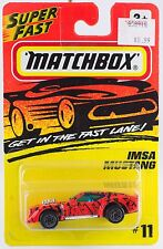 Matchbox MB 11 IMSA Mustang Silver Wheels China Casting 1995 Mint On Card