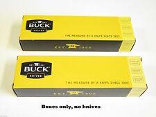 LOT of 2 BUCK 8.5 long KNIFE BOX FOLDING HUNTER RANGER 196 500 426 422 112 (41)