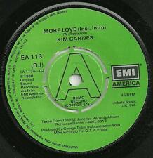 KIM CARNES - MORE LOVE (Incl. Intro) DJ PROMO - EMI 1980 - EA 113 (DJ) - 80s POP