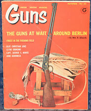 Vintage Magazine *GUNS* November 1961 !!! DEER RIFLES for CHUCKS !!!
