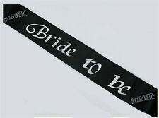Bachelorette Party BRIDE TO BE SASH BLACK Fun Bridal Shower Gift