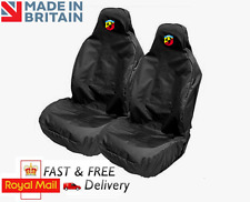 ABARTH CAR SEAT COVERS PROTECTORS SPORTS BUCKET HEAVYWEIGHT - FIAT 500